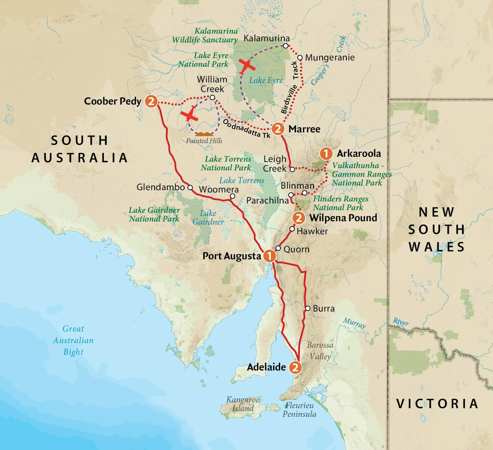 Australia Map Outback.Outback South Australia Tour Outback Spirit Tours