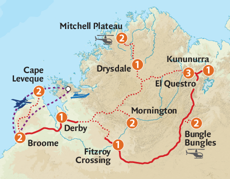 Map of the Exquisite Kimberley & Cape Leveque