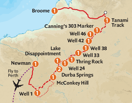Map of the Canning Stock Route Expedition