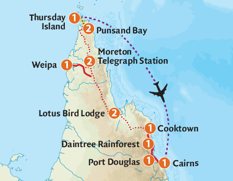 Map of the Cape York Wilderness Adventure