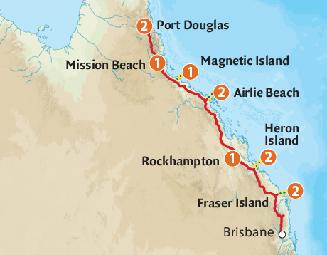 Map of the East Coast Island Escape