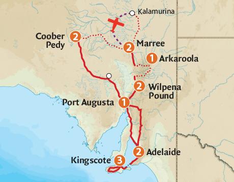 Australia Tour Map.South Australia Tours 2019 Outback Spirit Tours