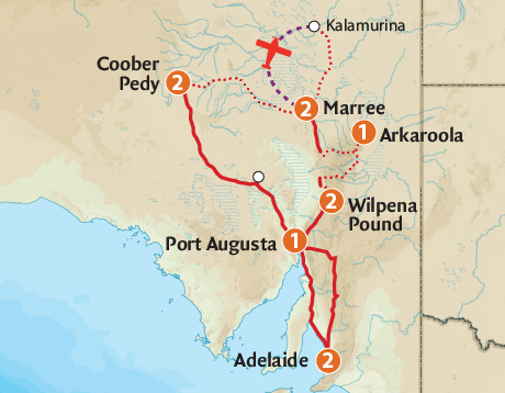 Where Is The Outback In Australia On A Map.2020 South Australia Tours Outback Spirit Tours